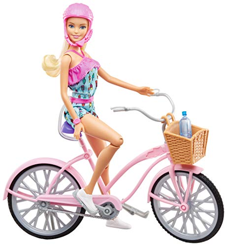 Barbie FTV96 Doll with Bicycle and Accessories, Dolls and Doll Accessories from 3 Years