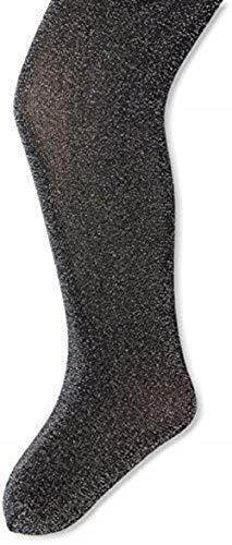 Jefferies Socks Little Girls' Sparkly Tights, Black, 2-4 Years