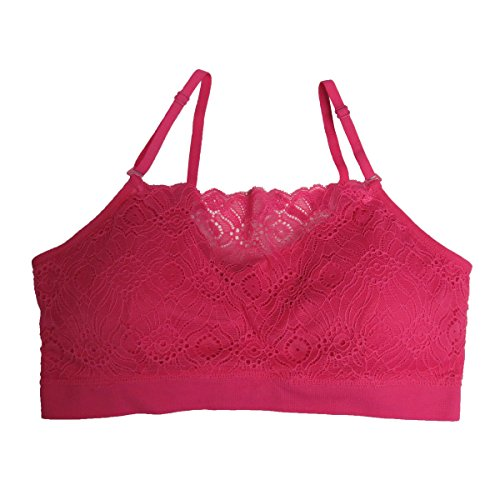 Coobie Seamless Lace Coverage Bra, Hot Pink