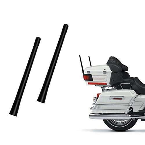 7- inch Short Custom Flexible Rubber Fit Harley Davidson Motorcycle Antenna AM/FM for 1989-2020 Touring Electra Glide Ultra Classic (2 Pack)