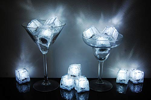Litecubes Brand 3 Mode White Light up LED Ice Cubes (12)