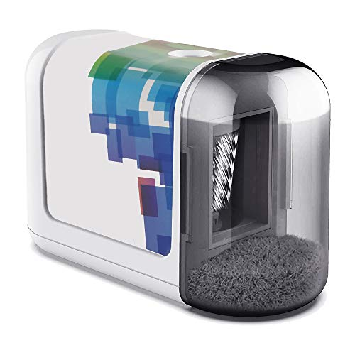 Electric Pencil Sharpener, Office Compact Fast Sharpen Pencil Sharpener, Battery Powered & Perfect Design for School Classroom, Home and Office