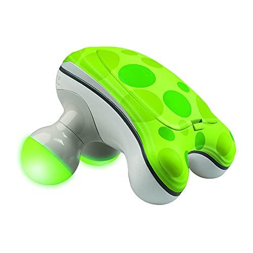 HoMedics Ribbit Handheld Mini Massager   Vibration Massage, Illuminated Feet, Battery Operated, Assorted Colors   Lightweight, Muscle Kneading for Back, Shoulders, Feet, Legs, & Neck