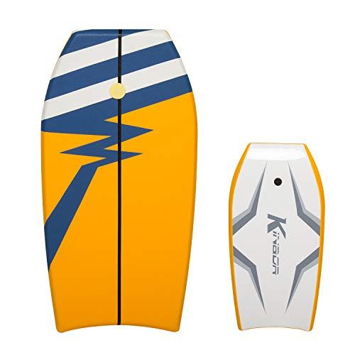 Kinbor 41 Inch Body Surf Boards for Beach Lightweight Bodyboard Surfing for Ocean, Sea, River, Pool