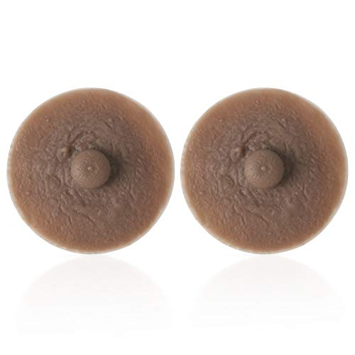Vollence Adhesive Silicone Nipples Reusable Attachable Nipple for Breast Forms