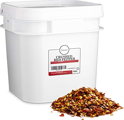 Sweeler, Crushed Red Pepper Flakes - 40,000 Heat Units, Value Large Bucket Size for Food Service or Home Use, 4lbs