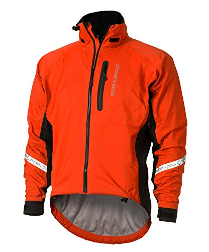 Showers Pass Men's Waterproof Breathable Elite 2.1 Cycling Jacket (Cayenne Red - Large)
