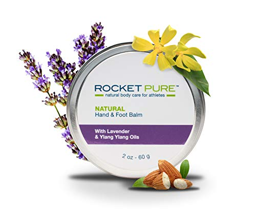 Natural Hand and Foot Balm for Athletes with Lavender and Ylang Ylang. for Dry Cracked, Damaged Heels from Running, Hiking. Moisturize Dry, Chapped Hands from Climbing, Lifting and Other Sports.