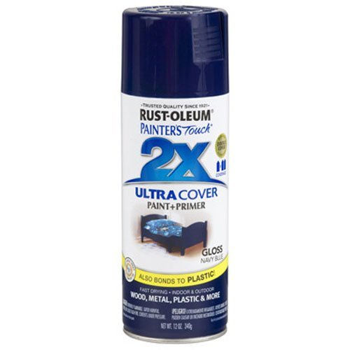 Rust-Oleum 249098 Painter's Touch 2X Ultra Cover, 12 Oz, Gloss Navy Blue