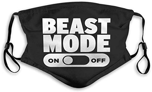 Beast Mode On Cloth Face Mask Washable Mask Fabric Mouth Mask Reusable Printed