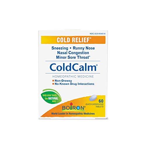 Boiron Coldcalm Quick-Dissolving Tablets 60 Tablets (Value Pack of 2)