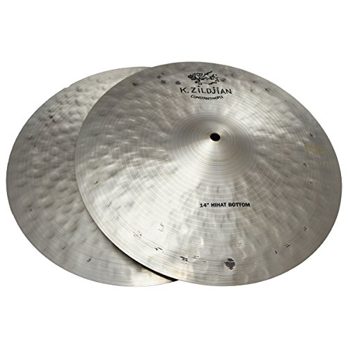 Zildjian 14' K Zildjian Constantinople Hi Hat Pair Drumset Cast Bronze Cymbals with Dark/Mid Sound and Blend Balance K1070 - Lightly Used