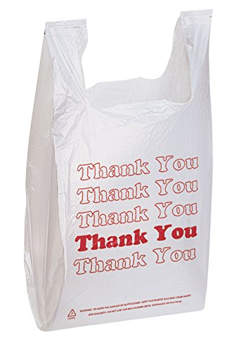 """Thank You Bags pk. of 1000-11 ½"""" x 6' x 21' - Thickness .48mil HDPE- Standard Supermarket Size"""
