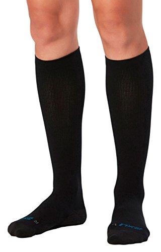 2XU Women's 24/7 Compression Socks, Black/Black, Small
