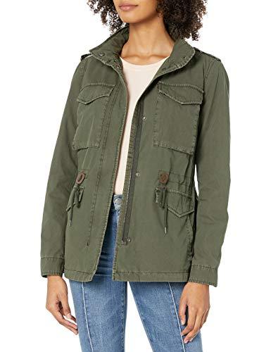 Levi's Women's Parachute Cotton Military Jacket, Army Green, Medium
