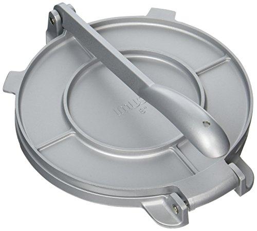 IMUSA USA MEXI-86009M Cast Aluminum Tortilla & Roti Press 8-Inch, Silver