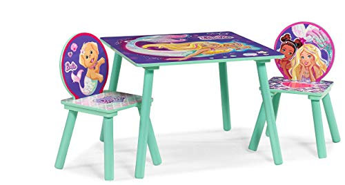 Barbie Mermaid Table & Chairs Set, Multi Color