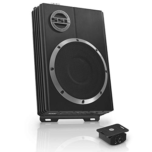 Sound Storm Laboratories LOPRO10 Amplified Car Subwoofer - 1200 Watts Max Power, Low Profile, 10 Inch Subwoofer, Remote Subwoofer Control, Great For Vehicles Needing Bass But Have Limited Space, Black