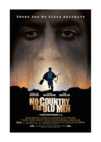 No Country for Old Men Movie Poster 24'x36' (33.02 x 48.26 cm) This is a Certified Poster Office Print with Holographic Sequential Numbering for Authenticity.