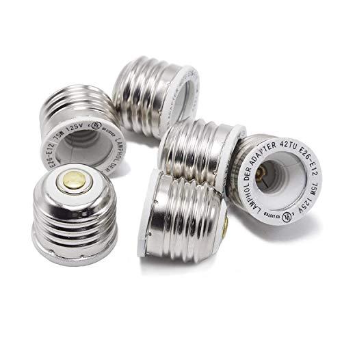 ETOPLIGHTING |24-Pack| Heat Resistant Lamp Base Converter E12 – Edison E26/E27 Base Bulb Adapter UL Listed Bulb Socket Base Reducer, APL1678