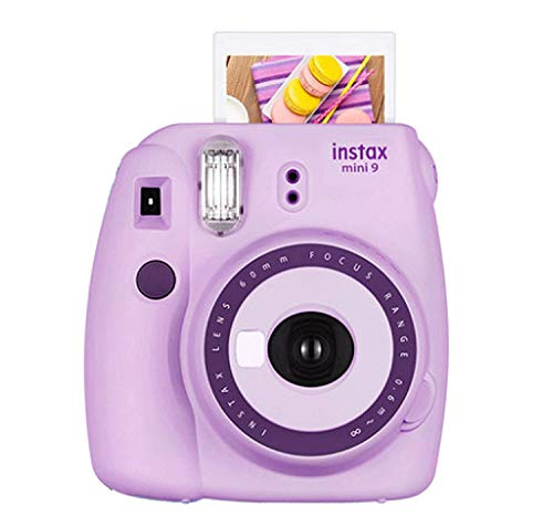 Fujifilm Instax Mini 9 Camera Purple +Fuji Instax Mini Camera Purple + Instax Mini 9 + Instax Camera Light Purple, Instant Camera Gift for Kids -Polaroid Camera Light Purple