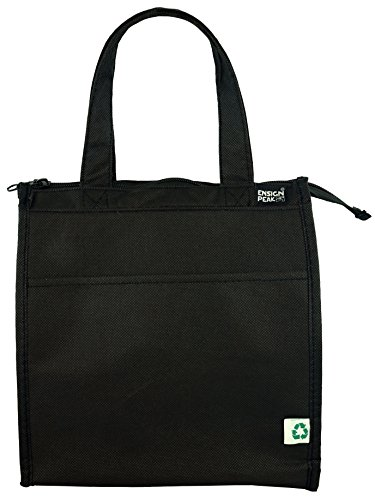 Ensign Peak Insulated Zippered Hot & Cold Cooler Tote - Small, Black