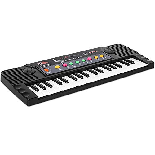 M SANMERSEN Piano for Beginners, Portable Piano Keyboard for Kids Musical Keyboard Piano 37 Keys Toy Piano with Microphone/ Right Speaker/ Demo/ Adjustable Volume