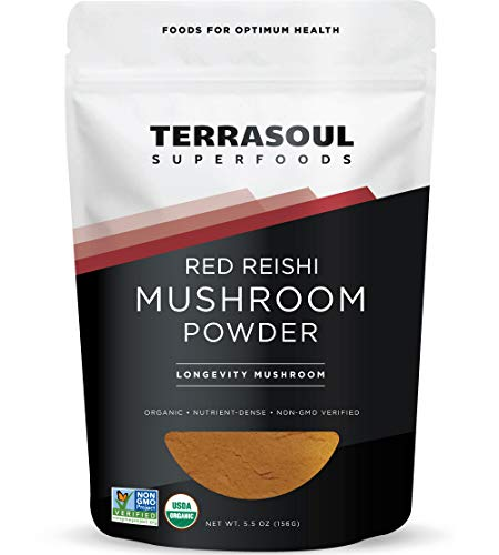 Terrasoul Superfoods Organic Reishi Mushroom Powder (4:1 Extract), 5.5 Oz - Immune Boosting | Coffee Enhancer | Deeper Sleep