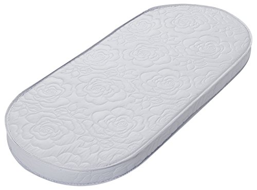 Big Oshi Waterproof Oval Baby Bassinet Mattress - Waterproof Exterior - Thick, Soft, Breathable Foam Interior - Comfy, Padded Design, Also Fits Portable Bassinets, 13 x 29 x 2 Inch