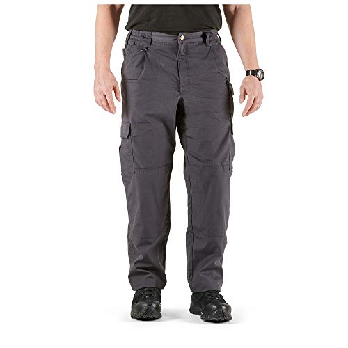5.11 Tactical Men's Taclite Pro Lightweight Performance Pants, Cargo Pockets, Action Waistband, Charcoal, 34W x 34L, Style 74273