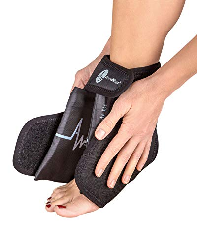 ActiveWrap Foot & Ankle Ice Pack Wrap with Reusable Hot Cold Packs for Plantar Fasciitis Pain Achilles Injuries - Large/X-Large