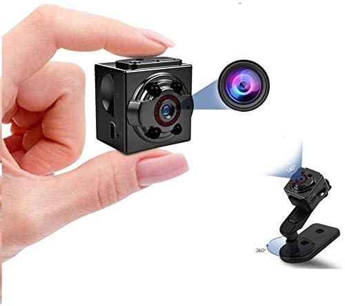 Hidden Mini Camera, 1080P Full HD Nanny Cam, Night Vision & Motion Activation for Indoor Outdoor Portable Secret Surveillance Covert Security Small Cameras