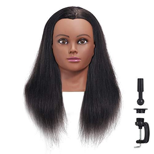 Hairginkgo 18-20' 100% Human Hair Training Practice Head Styling Dye Cutting Mannequin Manikin Head (91806B0212)