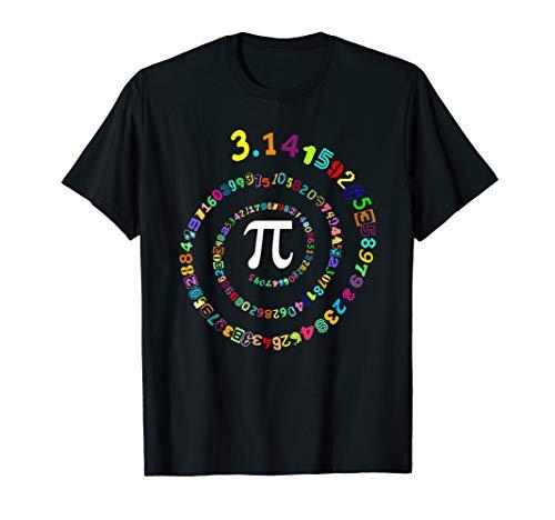 Pi Spiral Novelty Pi Day T Shirt