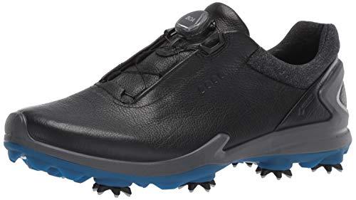ECCO Men's Biom G3 BOA Gore-TEX Golf Shoe, Black Yak Leather, 45 M EU (11-11.5 US)