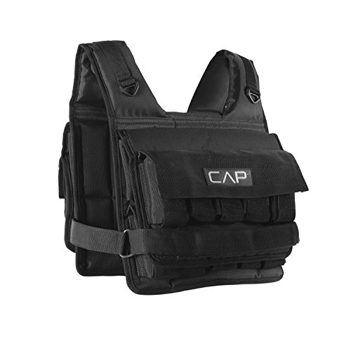 CAP Barbell HHWV-CB020S Short Adjustable Weighted Vest, 20 lb.