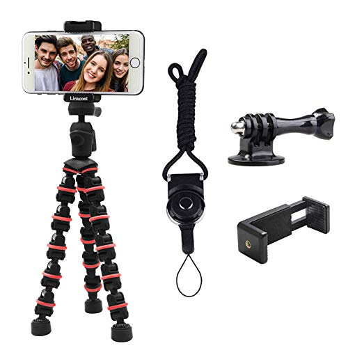 Phone Tripod, Linkcool Octopus Tripod with Wireless Remote Phone Holder Mount Use as iPhone Tripod, Cell Phone Tripod, Camera Tripod, Travel Tripod,Tabletop Tripod for iPhone Gopro