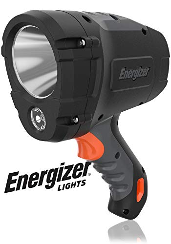 ENERGIZER HC-600 LED Spot light, IPX4 Water Resistant, Super Bright LED Spotlight Flashlight, Impact-Resistant, Heavy Duty Durability, Batteries Included
