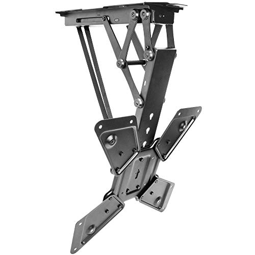 VIVO Electric Ceiling TV Mount for 23 to 55 inch Screens, Flip Down Motorized Pitched Roof VESA Mount, MOUNT-E-FD55