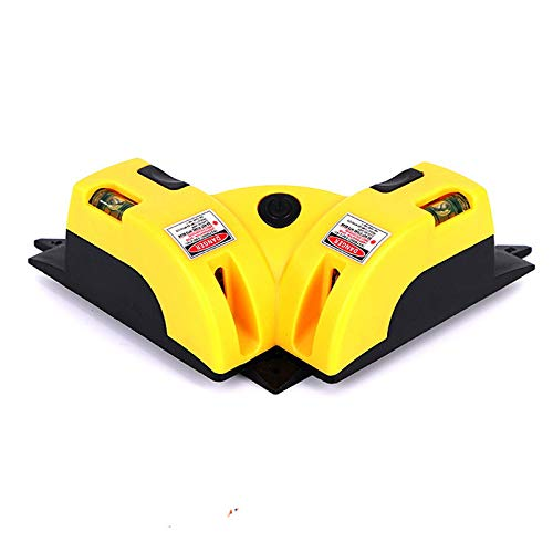 Boloniprod Right Angle 90 Degree Horizontal Vertical Laser Level Line Projection Square Level Laser with Two Suction Cups (Style 1)