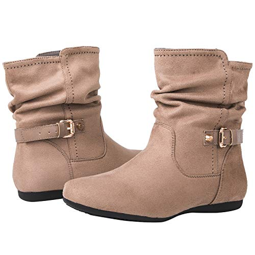 GLOBALWIN Women's 18YY12 Khaki Fashion Boots 7.5M