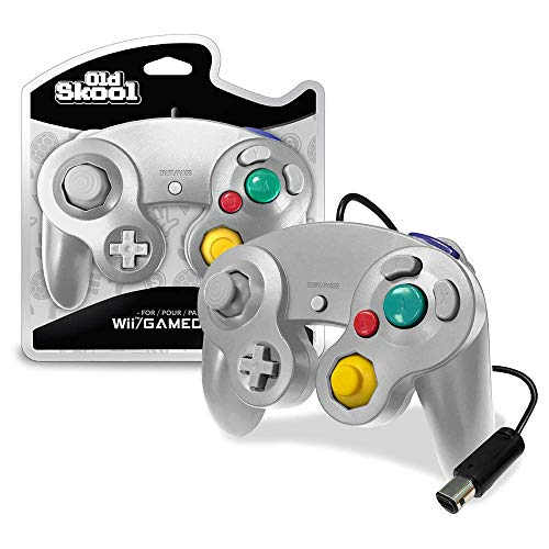 Old Skool Controller Compatible with Gamecube/Wii - Silver