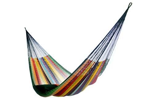 Hammocks Rada- Handmade Yucatan Hammock - Matrimonial Size Tropical Multicolor - True Comfort, True Quality, World's Best Handmade Hammock- 100% No-Hassle Satisfaction Guarantee