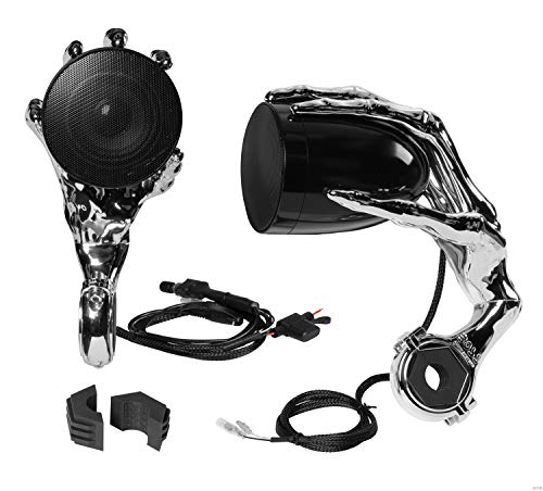 BOSS Audio Systems PHANTOM900 Motorcycle Weatherproof Bluetooth Speaker System - 3 Inch Speakers, Built-in Amplifier, Built-in Bluetooth, Volume Control, Great for ATVs and All 12 Volt Vehicles