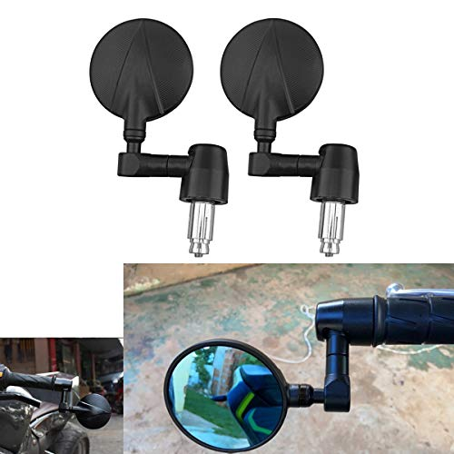 DUILU Handle Bar End Motorcycle Side Mirrors 7/8'' 22mm , Motorcycle Round Mirror