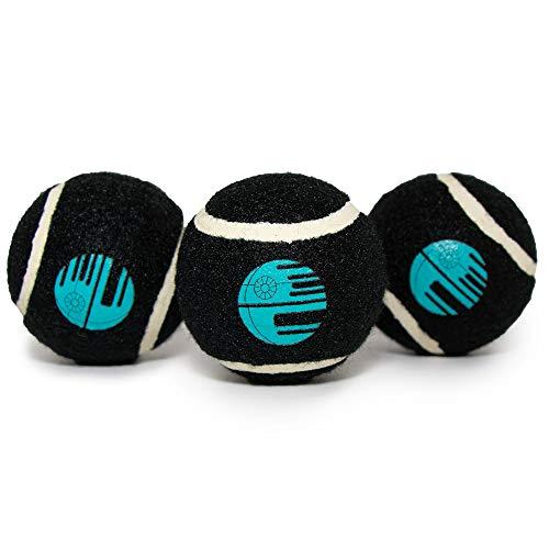 Buckle-Down Dog Toy, Tennis Balls Star Wars Death Star Black Aqua Blue