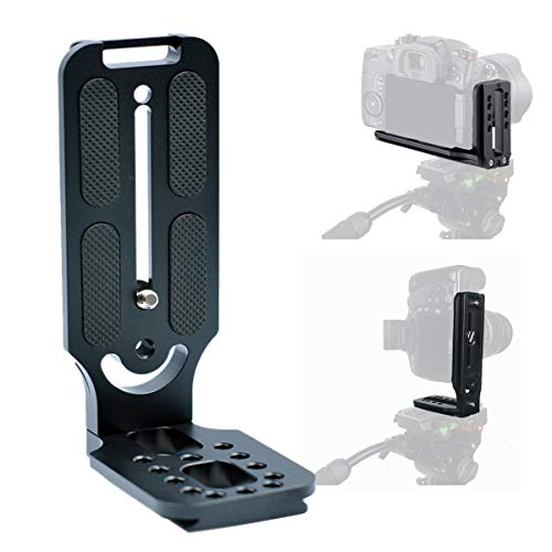 Fairview L Bracket Vertical Horizontal Switching Tripod Head Quick Release Plate Arca Swiss for DSLR Camera Canon EOS R RP 850D 90D 6D Mark II 1D X Sony A9 II A7R IV A7S II A6300 Nikon D6 D850 D810A