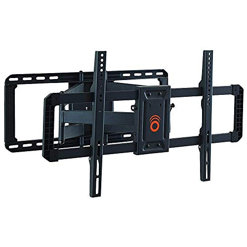 ECHOGEAR Full Motion TV Wall Mount for Big TVs Up to 90' TVs - Smooth Swivel, Tilt, & Extension - Universal Design Works with Samsung, Vizio, TCL & More - Includes Drilling Template - EGLF2