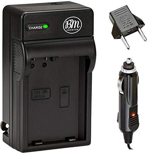 BM Premium ENEL14, EN-EL14, EN-EL14A Battery Charger for Nikon D3400, D3500, D5600, D3100, D3200, D3300, D5100, D5200, D5300, D5500, DF, Coolpix P7000, P7100, P7700, P7800 Digital Cameras