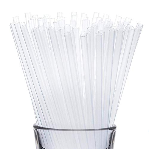 Disposable Drinking Straws by WOW Plastic – 250 Pack of Plastic Straws – Clear Drinking Straws for Hot and Cold Beverages – Premium Straw – 7 ¾-Inch Long Straws for Restaurant and Home Use